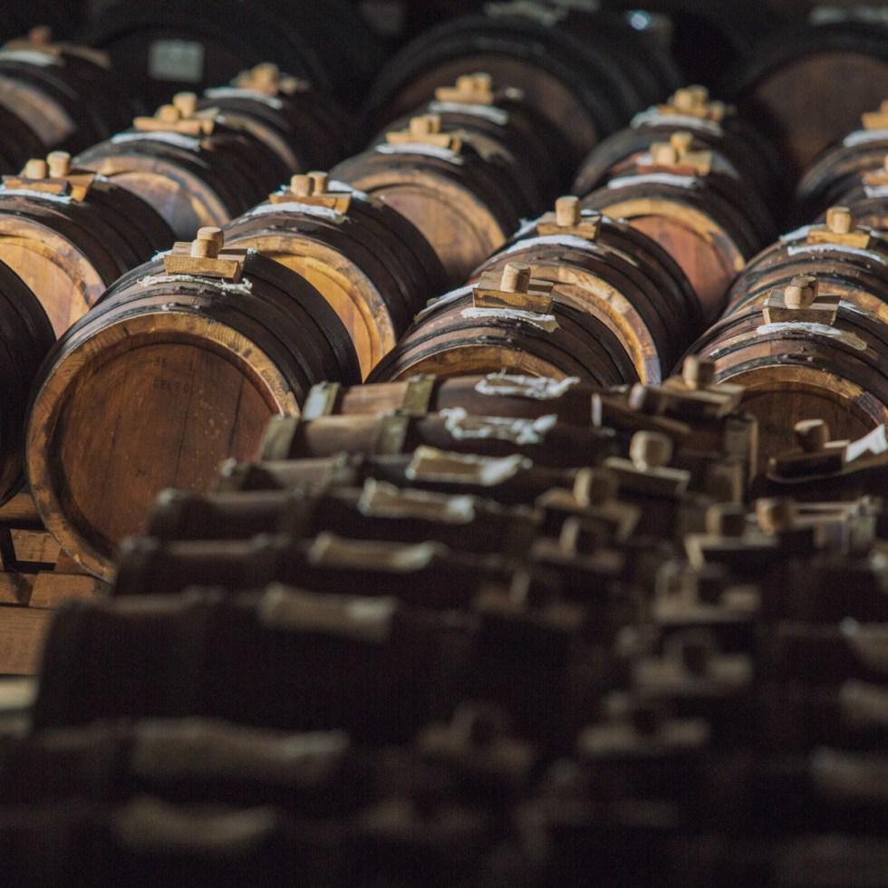Acetaia Malagoli battery of DOP balsamic vinegar barrels
