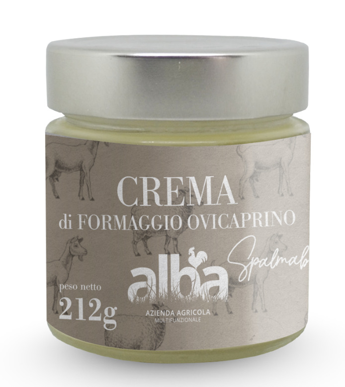 Alba spreadable cheese in jars