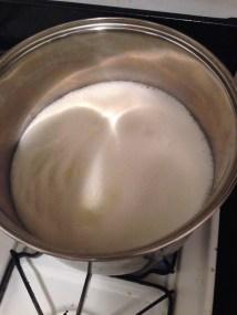 Milk and cream in a pot