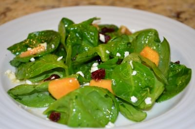 Persimmon and Spinach Salad