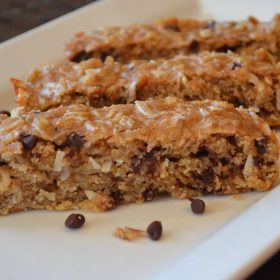 "Oatmeal Coconut Chocolate Chip ""Brookie"" Bars"
