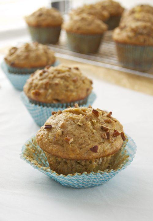healthier hummingbird muffins