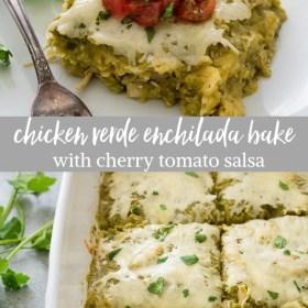 chicken enchilada bake collage