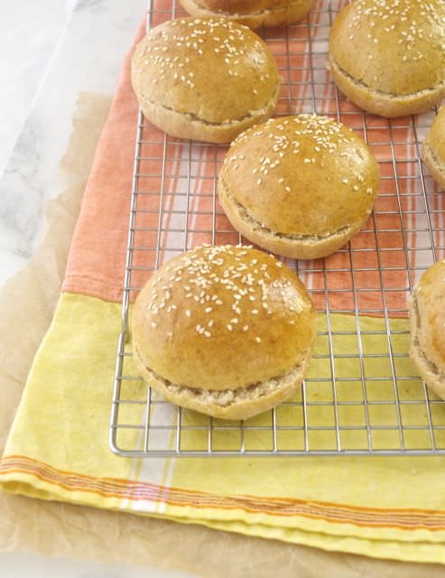 honey whole wheat burger buns3 | flavorthemoments.com