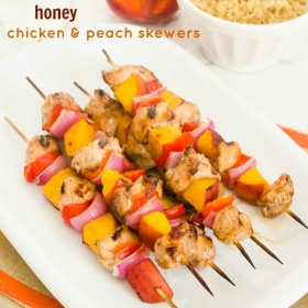 balsamic honey chicken peach skewers1| flavorthemoments.com