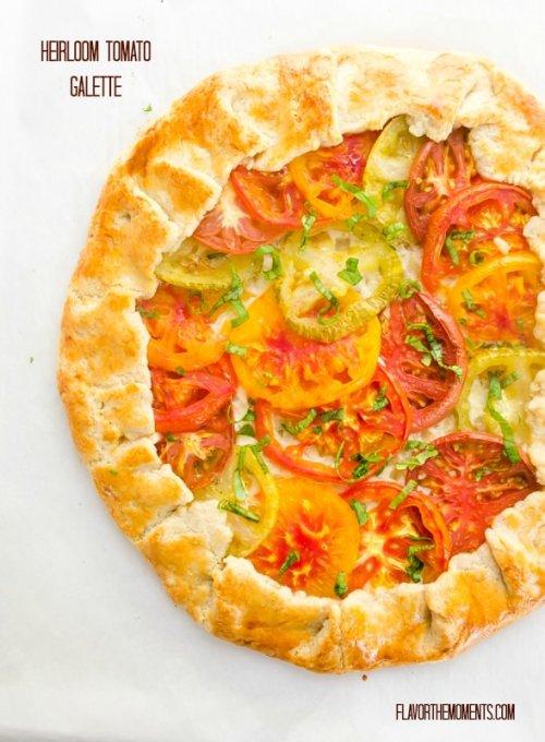 heirloom-tomato-galette-farmers-market-friday1 | flavorthemoments.com