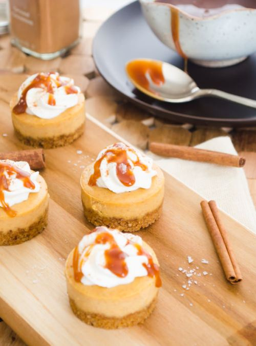 mini-salted-caramel-pumpkin-cheesecakes2 | flavorthemoments.com