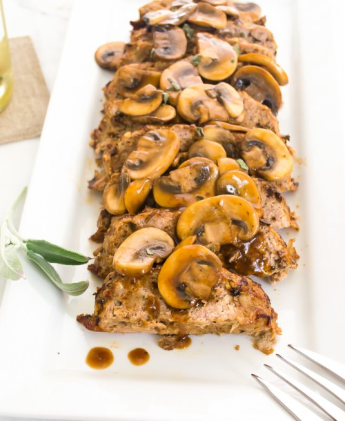 wild-mushroom-sage-turkey-meatloaf2 | flavorthemoments.com