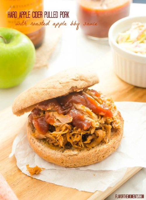 hard-apple-cider-pulled-pork-with-roasted-apple-barbecue-sauce1 | flavorthemoments.com
