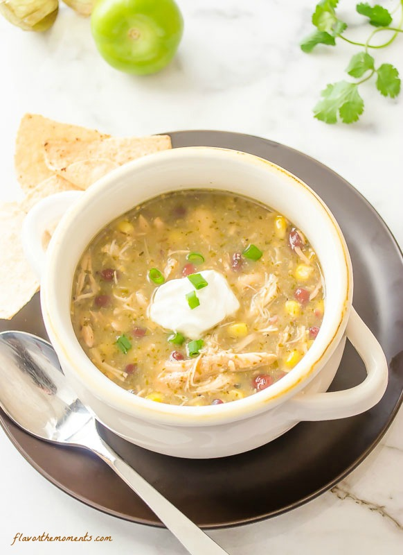 Slow Cooker Chicken Salsa Verde Soup