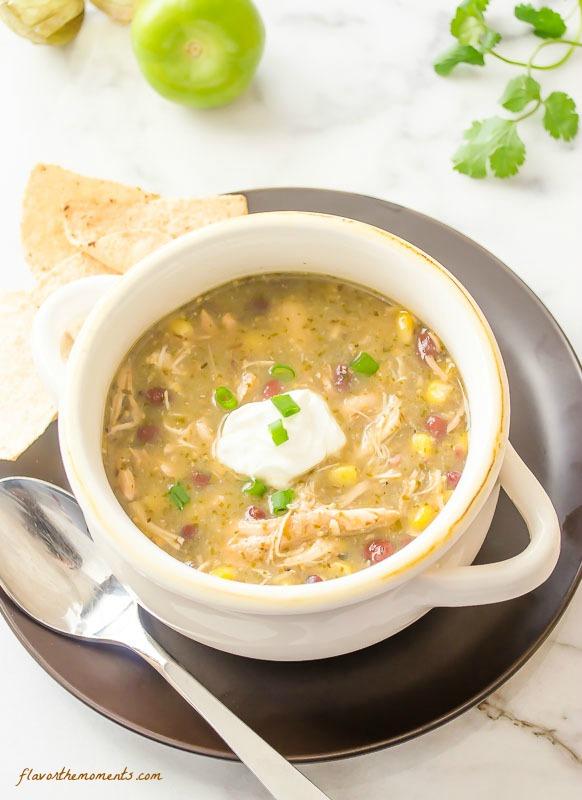 Slow Cooker Chicken Salsa Verde Soup
