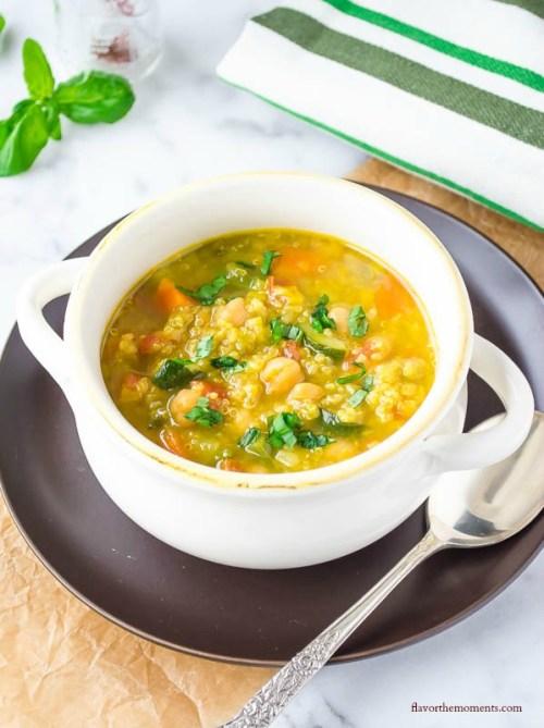 saffron vegetable soup with quinoa2 | flavorthemoments.com