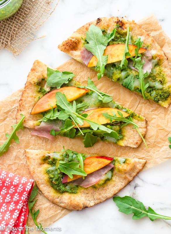 grilled-flatbread-pizza-with-arugula-pesto-nectarines-and-prosciutto2-flavorthemoments.com