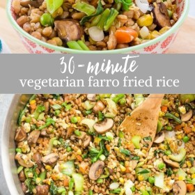 farro fried rice collage