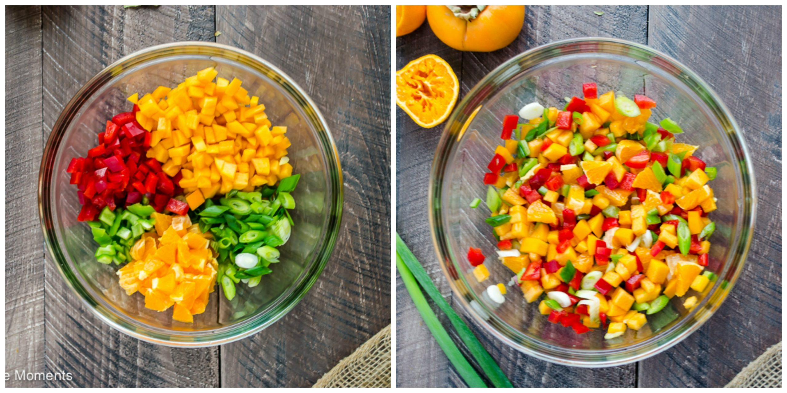 persimmon orange salsa collage | flavorthemoments.com
