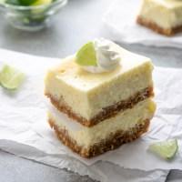 Key Lime Cheesecake Bars with Coconut Macadamia Crust