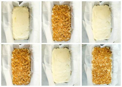 Coconut Lime Ice Cream Loaf layering