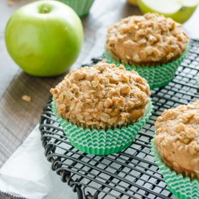 Apple Oatmeal Crisp Muffins are tender, whole grain muffins that are like apple crisp in muffin form!