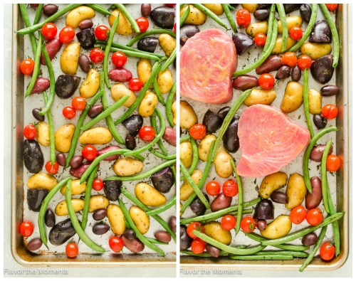 30 Minute Sheet Pan Tuna Nicoise process