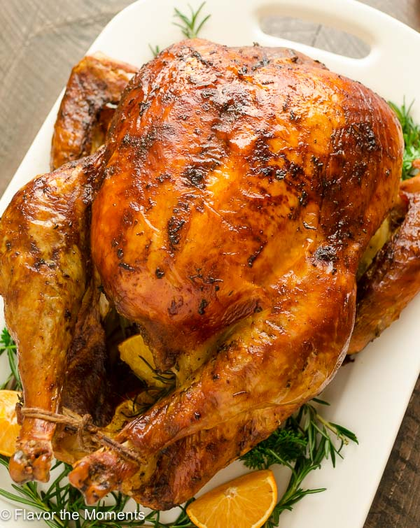 Dry Brined Orange Rosemary Roasted Turkey is the easy way to brine your turkey with no messy liquid! Roast it to perfection for a juicy, flavorful turkey with the crispiest skin ever. @FlavortheMoment