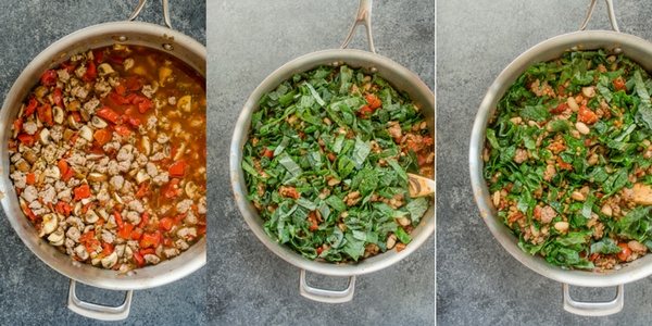 tuscan-lentil-skillet-process