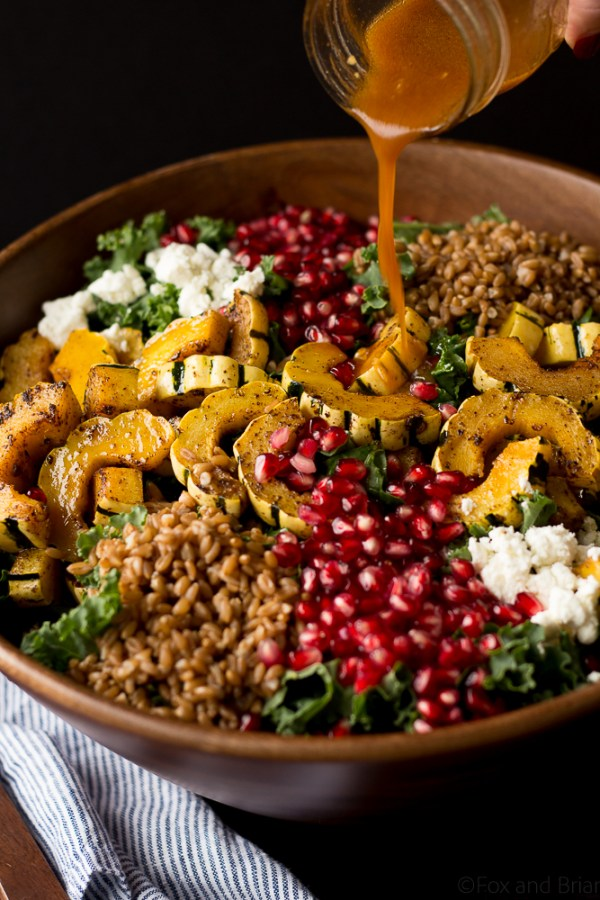 Autumn Harvest Salad with Pomegranate by Fox and Briar