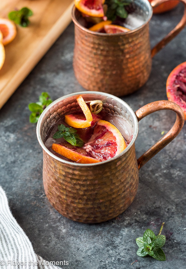 graphic relating to Moscow Mule Recipe Printable known as Blood Orange Moscow Mule