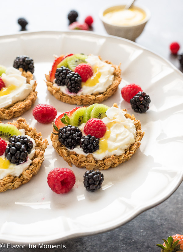 Breakfast Fruit Tarts with Granola Crust - Flavor the Moments