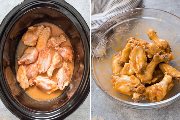 chicken-wings-slow-cooker-process-collage