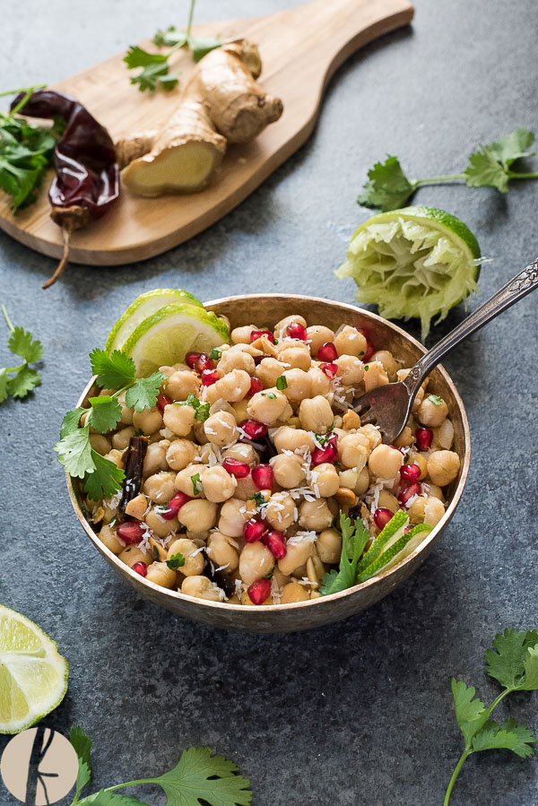Instant Pot Spiced Chickpea Salad is a vegetarian Indian chickpea salad that's packed with protein and fresh flavor! {GF}