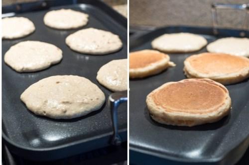 fluffy-greek-yogurt-pancakes-process-collage-flavorthemoments