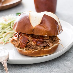 Instant Pot Pulled Pork is the full proof way to achieve tender, flavorful pulled pork in about one hour!