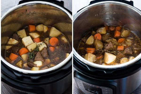 Instant Pot Irish Beef Stew is the ultimate beef stew with tender chunks of beef, potatoes, vegetables and Guinness stout.  It's ready in about one hour!