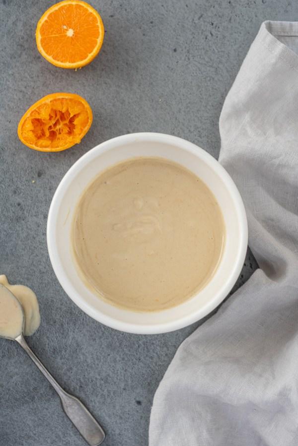 maple orange tahini dressing