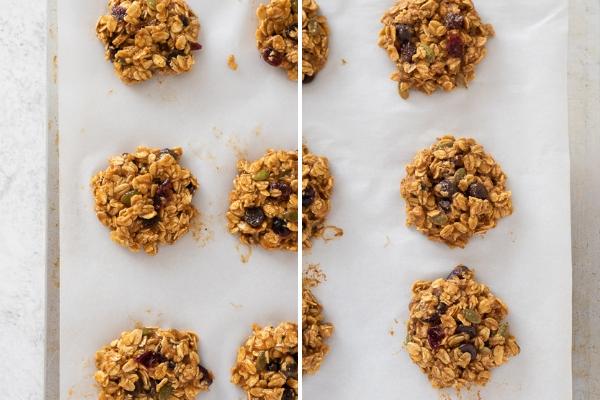 pumpkin breakfast cookies process collage 2