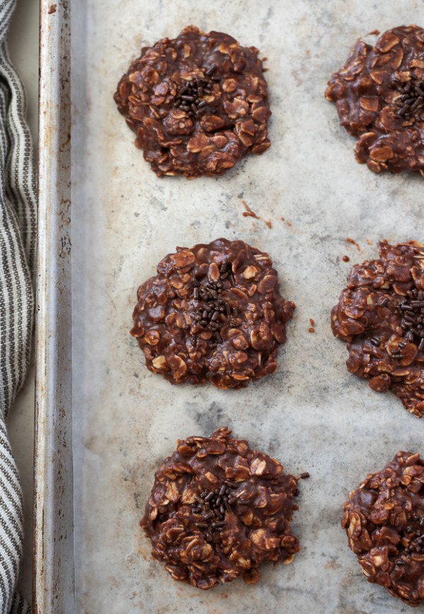 No Bake Nutella Oatmeal Cookies