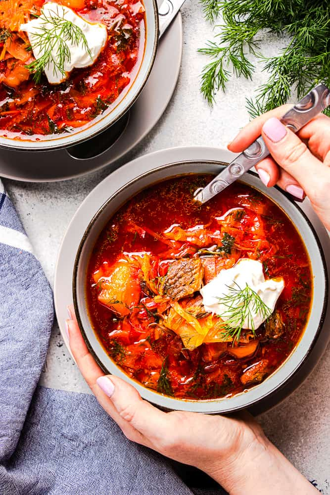 Borscht Soup with Beef (Gluten-Free, Whole 30)