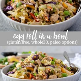 Egg Roll In A Bowl collage