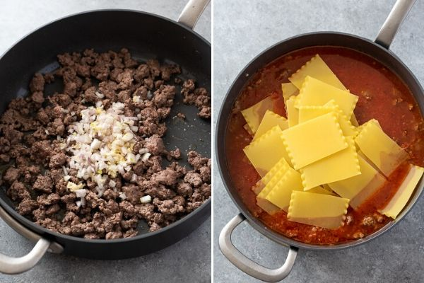 skillet-lasagna-process-collage-1
