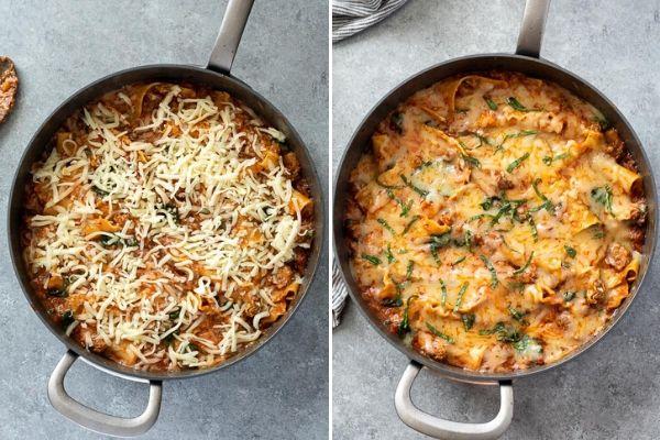 skillet-lasagna-process-collage-5