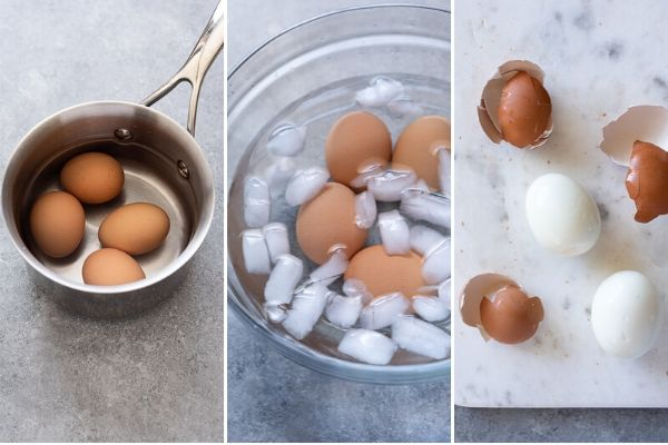 how to make hard boiled eggs collage
