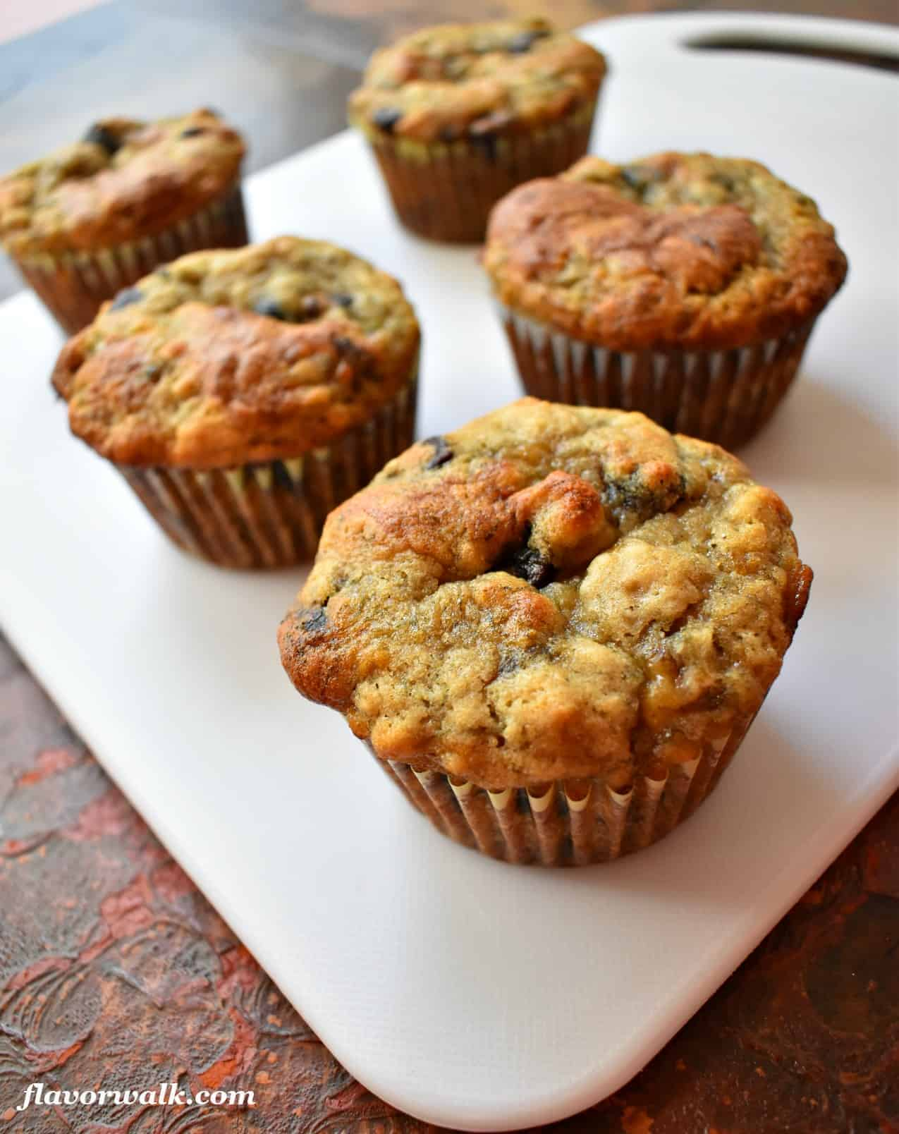 Gluten Free Chocolate Chip Banana Muffins are moist, tender and a terrific blend of chocolate and bananas!!