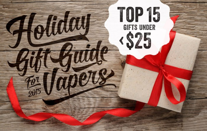 2015 Holiday Gift Guide For Vapers Top 15 Gifts Under 25