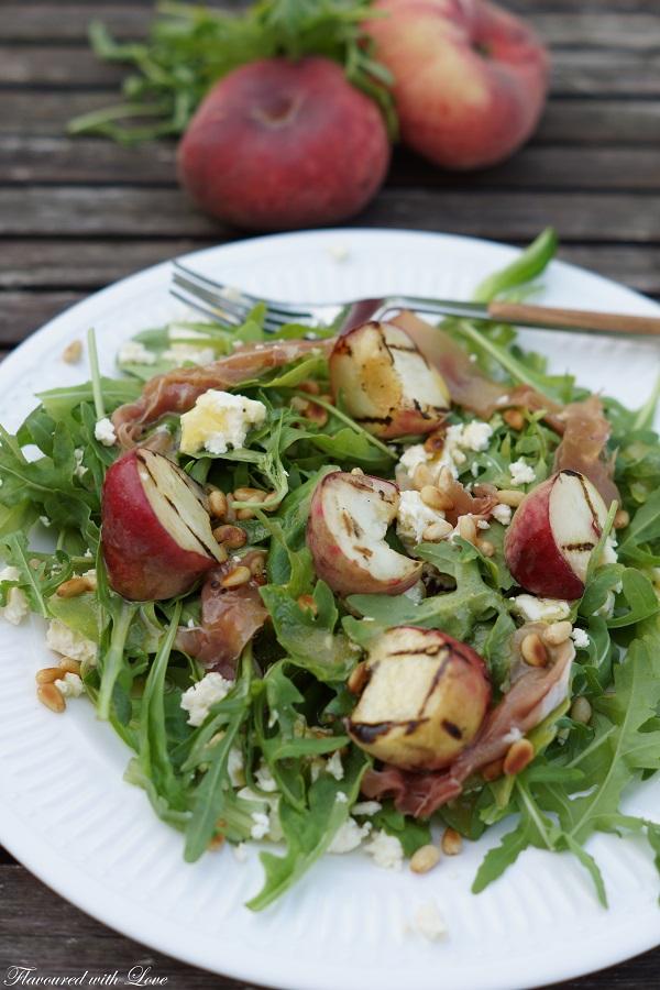 Sommer Pfirsich Salat3