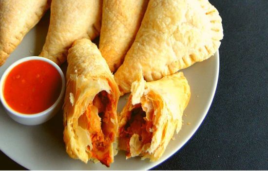 Curry Puffs with leftover curry