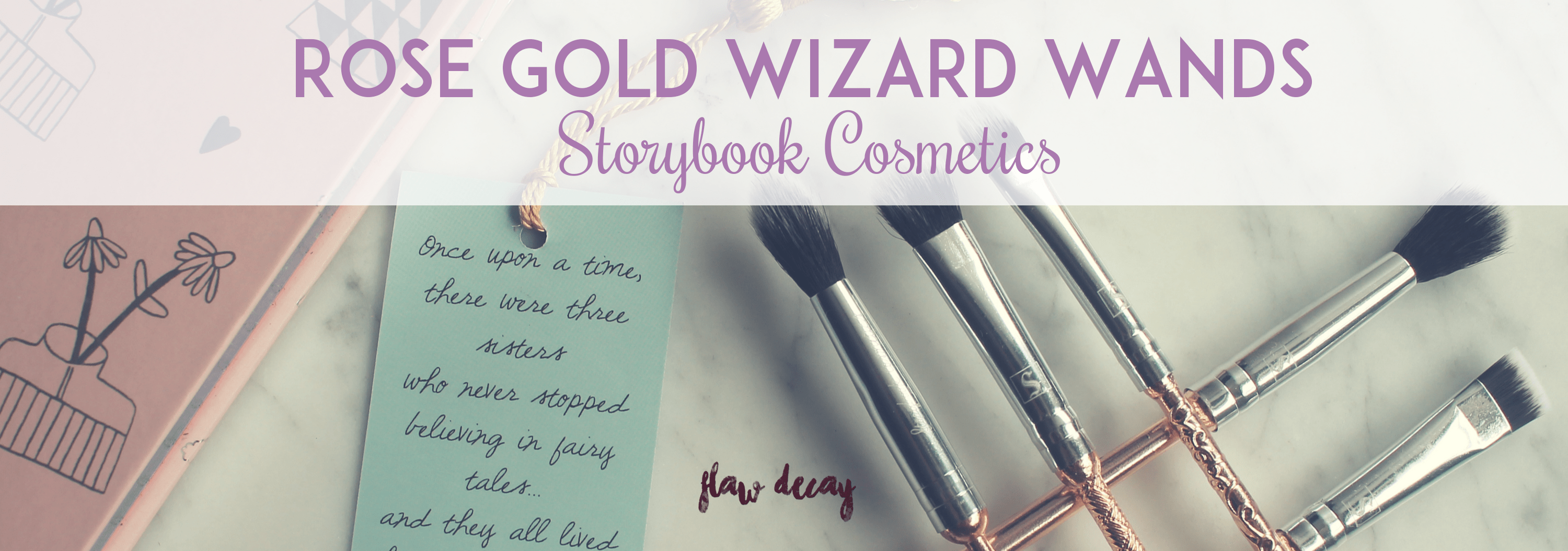 Rose Gold Wizard Wands de Storybook Cosmetics