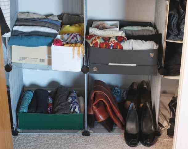 Use Shoe Boxes to Organize Your Closet