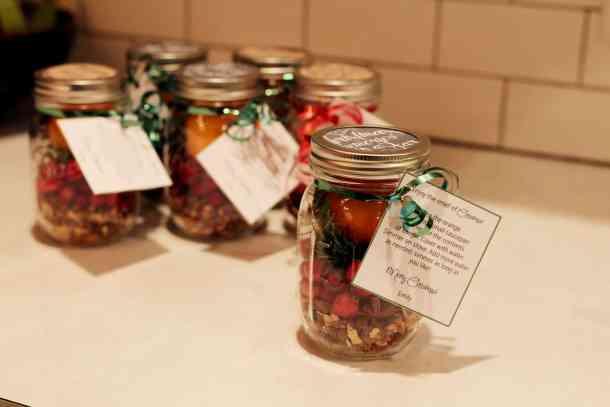 mason jar Christmas Potpourri