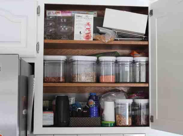 disorganized cabinet