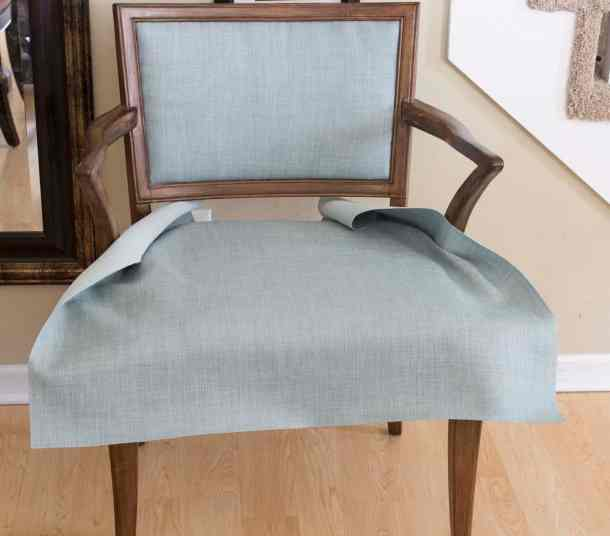 Lay Fabric on Chair